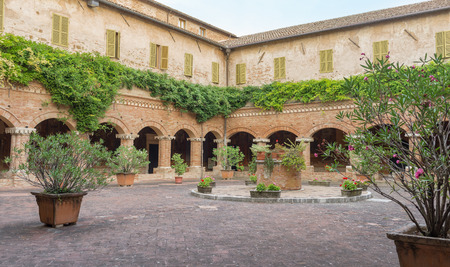 Inside the Cloister of the Basilica of San Nicola - Tolentino - Italy