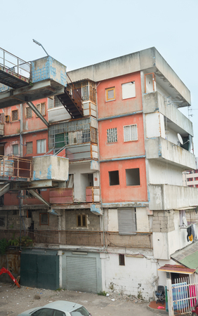 italian politics: Naples-Italy-December 19, 2016: the sail bulding of Scampia. Scampia is the set of Gomorrah fiction Editorial