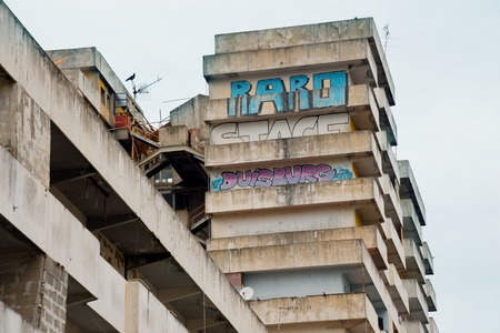 delinquency: Naples-Italy-December 19, 2016: the sail bulding of Scampia. Scampia is the set of Gomorrah fiction Editorial