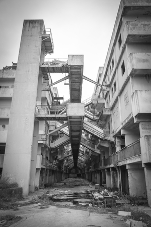 ransom: Naples-Italy-December 19, 2016: the sail building of Scampia. Scampia is the set of Gomorrah fiction