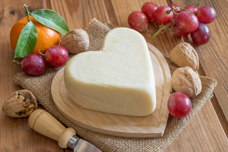 form of heart cheese symbol valentines day