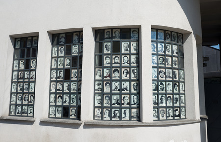 KRAKOW, POLAND - AUGUST 3, 2017:facade of Schindlers Fabrika factory.Schindler saved about 1100 Jews from extermination by making them work under a false name in his pottery factory