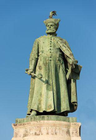 Budapest, Hungary - 8 august 2018: statue of Istvan Bocskai Hungarian statesman in Heroes Square