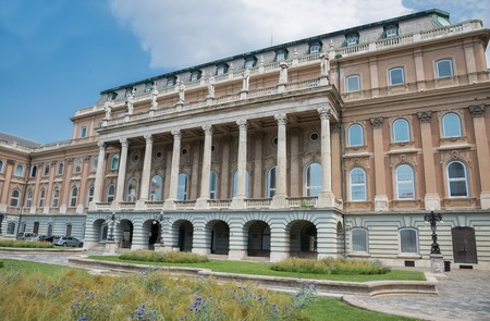 Budapest, Hungary - 5 august 2018: exterior of Hungarian National Gallery Museum 報道画像