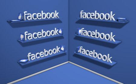 Italy, 6 June 2020: 3D rendering text of social facebook creator