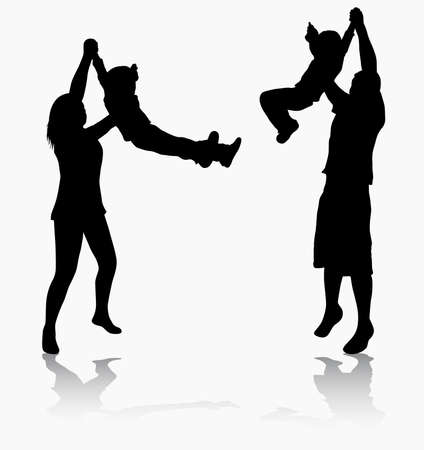 family together: Famiglia insieme Vettoriali