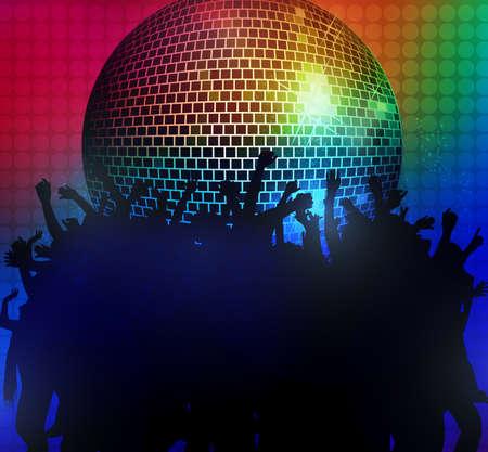 gente bailando: Siluetas de la gente que bailan