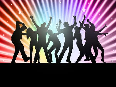 people dancing: Danza sagome di persone