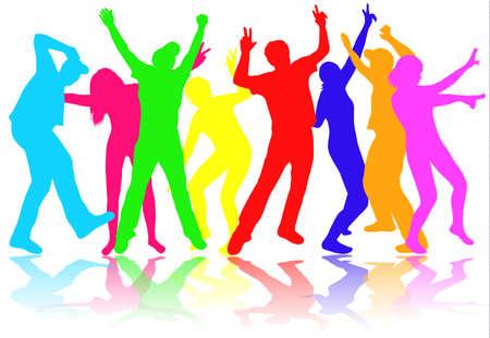 persone che ballano: Danza sagome di persone