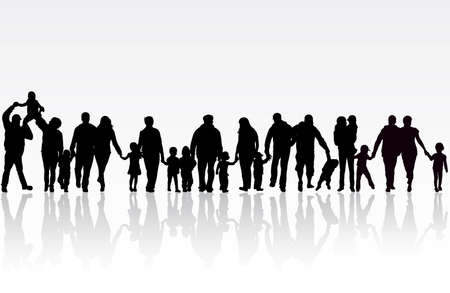 Grande famille Banque d'images - 30460705