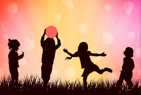 dancing girl: Children playing outdoors