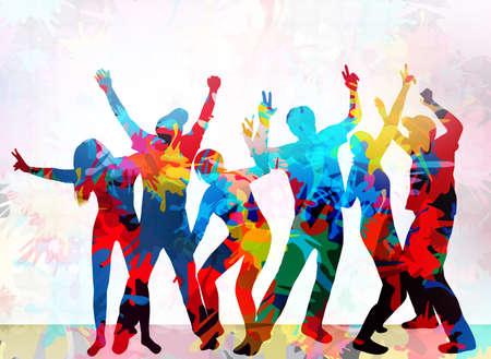 Danza sagome di persone Archivio Fotografico - 30460814