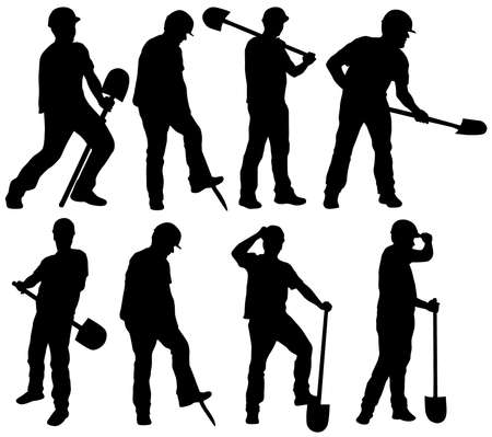 digging: Man silhouette Illustration