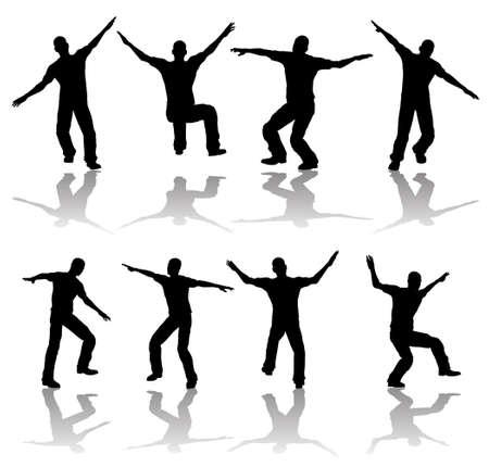 La gente feliz Foto de archivo - 30667468