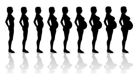 mujeres felices: Mujer embarazada