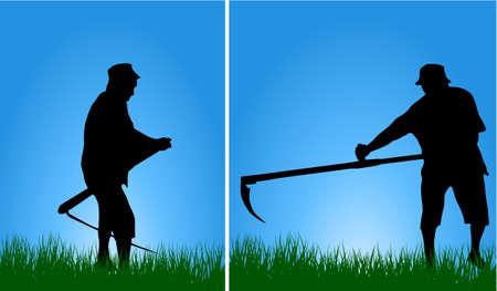 scythe: Man with scythe