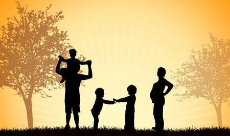 outoors: Family together