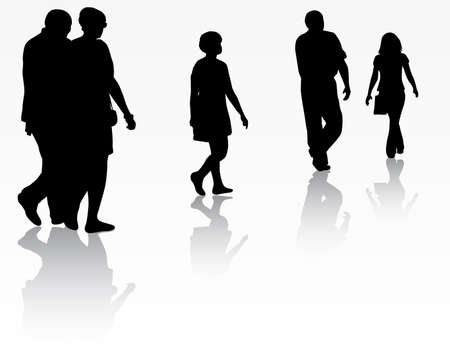 glasess: People silhouettes