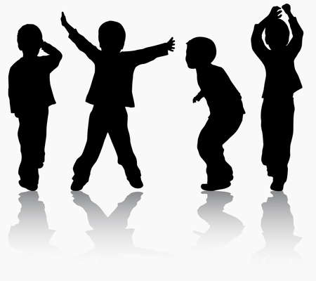 Boys silhouettes Illustration