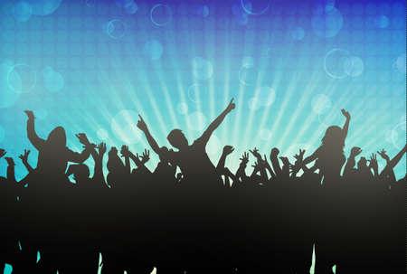 Dansen mensen silhouetten Stock Illustratie