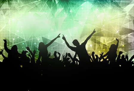 Menschen tanzen Silhouetten Standard-Bild - 30576535