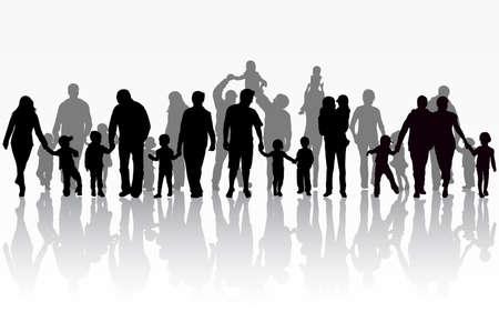 grandson: Family silhouettes Illustration