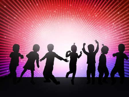 Gelukkige kinderen dansen