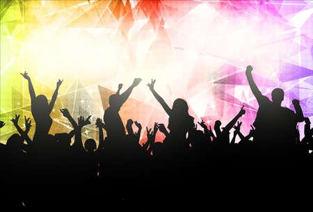 black people dancing: People dancing silhouettes