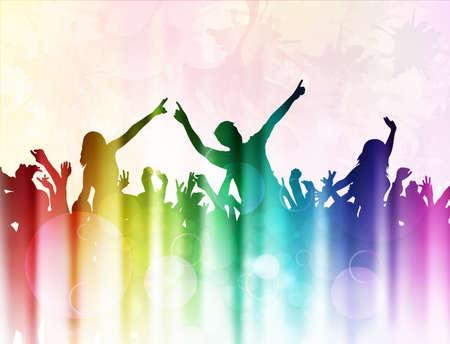 Danse des silhouettes de personnes