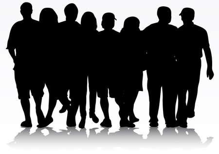 people silhouettes 向量圖像