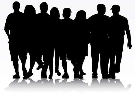 people silhouettes Ilustrace