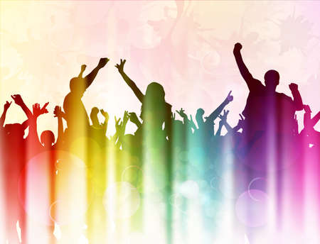 Dansende mensen silhouetten