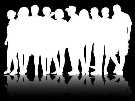 casual business team: Group of people Illustration