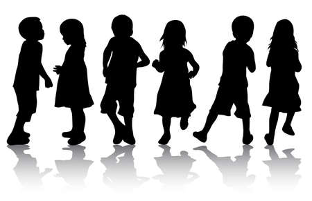 silhouettes: Children silhouettes