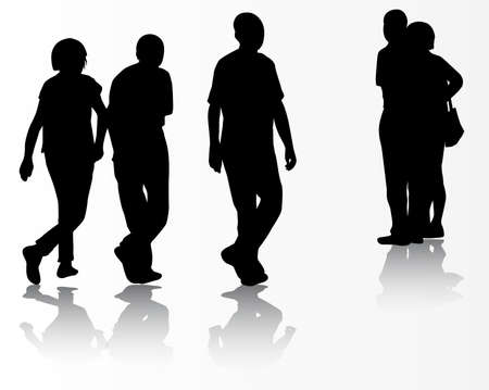 mature adult: People silhouettes