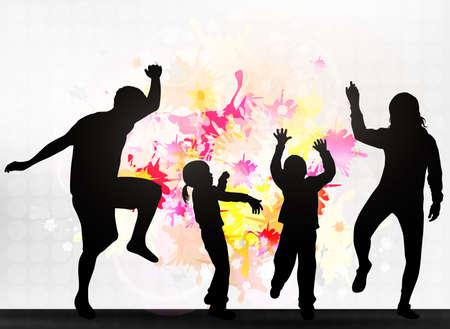 gente bailando: Familia unida