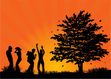 gens heureux: les gens heureux
