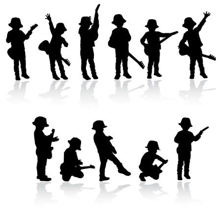Guitar boy Zdjęcie Seryjne - 30730333