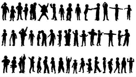 Kinder-Silhouetten  Standard-Bild - 31083813
