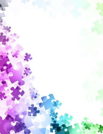 Puzzle astratto Archivio Fotografico - 31487152