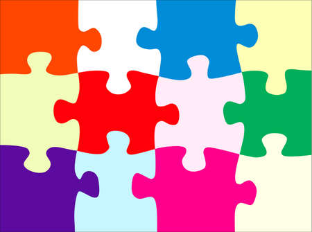 퍼즐 추상화