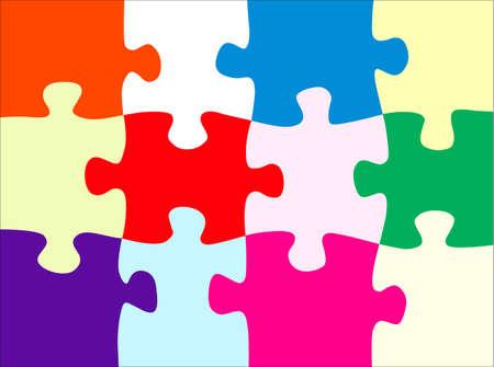 Puzzle astratto Archivio Fotografico - 31581407