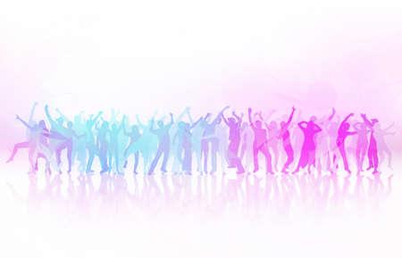 춤추는 사람들 일러스트