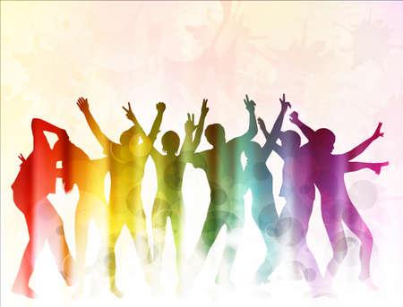fila de personas: Gente bailando
