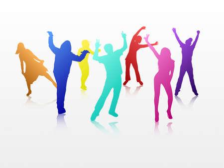 Dansende mensen Stock Illustratie