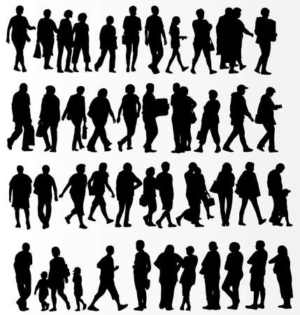 happy mature couple: People silhouettes collection