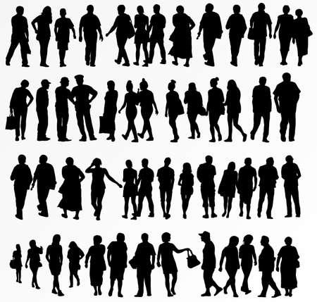 verzameling van mensen silhouetten
