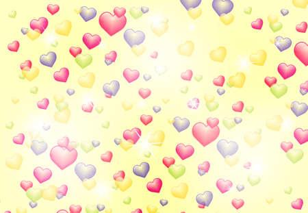shiny hearts: abstract background with shiny hearts Illustration