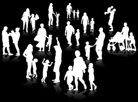 family concept illustration Vettoriali