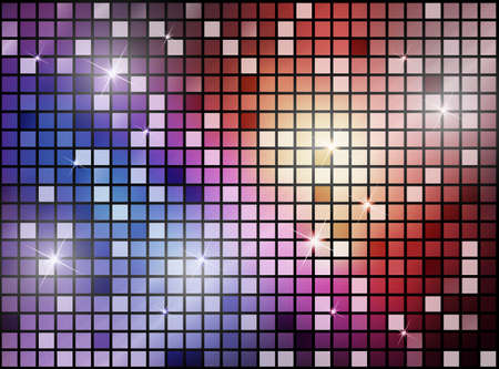 colorful: abstract background with shiny shapes Illustration
